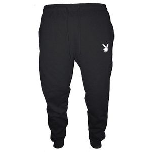 Mens Playboy Bunny Jogger Sweatpants Black